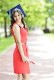 Young woman graduate Royalty Free Stock Image