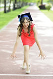 Young woman graduate Royalty Free Stock Photos