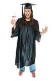 Young Woman Graduate Receives Stock Image