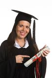 Young woman graduated with a Diploma Royalty Free Stock Photo