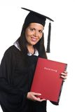 Young woman graduated with a Diploma Royalty Free Stock Images