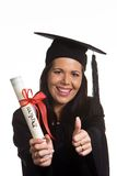 Young woman graduated with a Diploma Royalty Free Stock Image