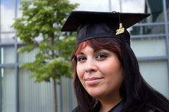 Young Woman Graduating Stock Image
