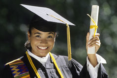 Young Woman Graduating Stock Photography