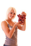 Young woman with grape Stock Image
