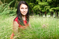 Young woman in grass Royalty Free Stock Photos