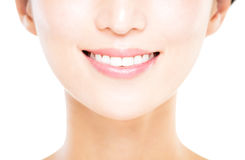 young woman with great healthy white teeth Stock Photo