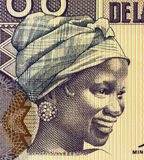 Young Woman from Guinea. Young Woman on 100 Francs 1998 Banknote from Guinea Stock Photography