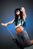 Young woman with guitar Royalty Free Stock Photography