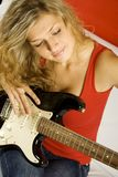 Young woman with guitar Stock Photo