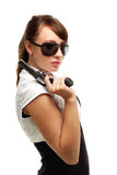 Young woman with gun Stock Photography
