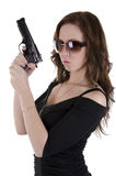 Young woman with gun. (4) Royalty Free Stock Photos