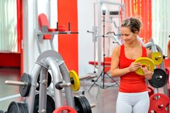 Young woman in the gym Stock Photo