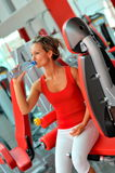 Young woman in the gym Stock Image