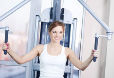 Young woman at the gym Royalty Free Stock Photo
