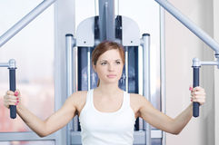 Young woman at the gym Stock Image
