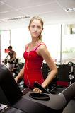 Young woman at gym Stock Photo