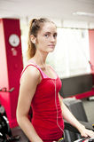Young woman at gym Stock Image