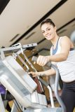 Young woman in the gym Royalty Free Stock Images