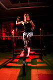 Young woman in a gym Stock Images