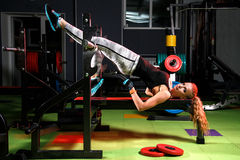 Young woman in a gym Royalty Free Stock Photography