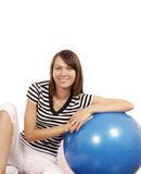 Young woman with gym ball Stock Image