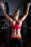 Young woman in a gym Stock Photo