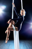 Young woman gymnast Stock Photography