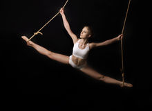 Young woman gymnast. Royalty Free Stock Image