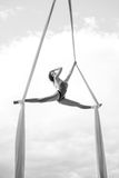 Young woman gymnast Royalty Free Stock Image
