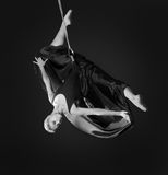 Young woman gymnast on rope Stock Photography