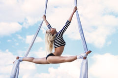 Young woman gymnast Royalty Free Stock Images