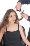 Young woman at the hairstylist Royalty Free Stock Photo