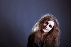 Young woman, Halloween witch Royalty Free Stock Photo