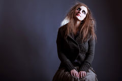 Young woman, Halloween witch stock image