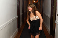Young woman in hallway Stock Photography
