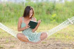 Young woman on hammock Stock Image