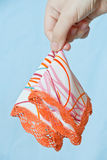 Young woman hand hold handkerchief Royalty Free Stock Photos