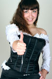 Young woman hand positive Royalty Free Stock Photo