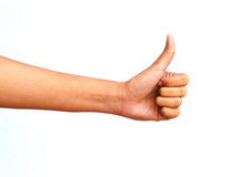 Hand show the great symbol Stock Photo