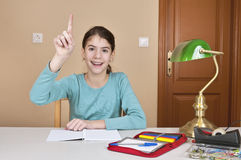 Young woman hand up Royalty Free Stock Image