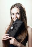A young woman with handbag Stock Image