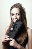 A young woman with handbag Stock Image