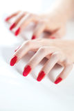 Young woman hands stock image