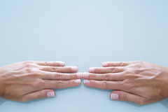 Young woman hands Stock Images