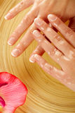 Young woman hands on spa treatment Royalty Free Stock Photo
