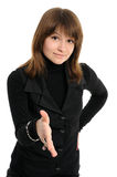 Young woman handshake Royalty Free Stock Photo