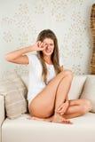 Young Woman Has A Headache Stock Photography