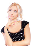 Young woman has reflected Stock Photography