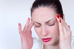 Causes of migraines Stock Photo